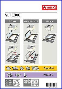 VELUX VLT Access Roof Window 45 x 73cm Loft Rooflight Skylight Flashing included