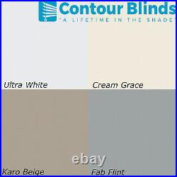 White Blackout Fabric Blinds For Roof Skylight. For All Dakstra Roof Windows
