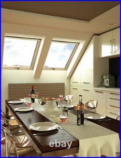 Wooden Timber Roof Window 55 x 78cm Double Glazed Centre Pivot Skylight