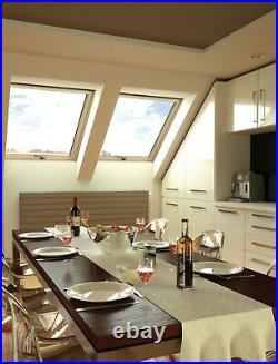 Wooden Timber Roof Window 94 x 78cm Flashing Tile & Slate Double Glazed Skylight