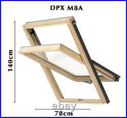 YARDLITE (By VELUX) Unvented Pine Roof Window, Pivot Skylight +Flashing & Blinds