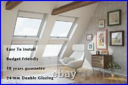 YARDLITE Vented White PVC Roof Window Skylight + Flashing & Blinds
