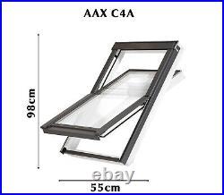 YARDLITE White Painted Pine Roof Window Skylight + Flashing & Blinds